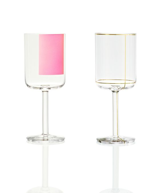 Colorful glass family by HAY | glasses with gold lines