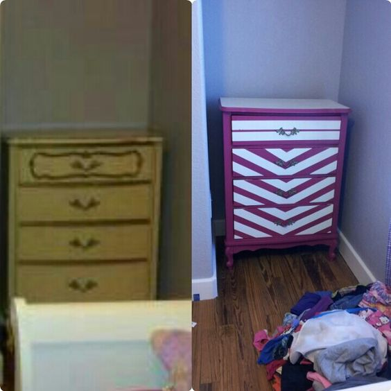 Revamped an old dresser for my girl to match her room.