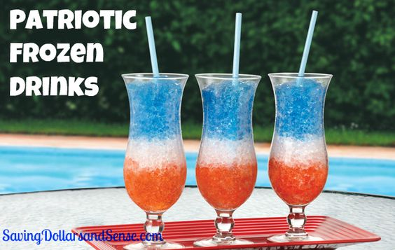 4th of july frozen drinks