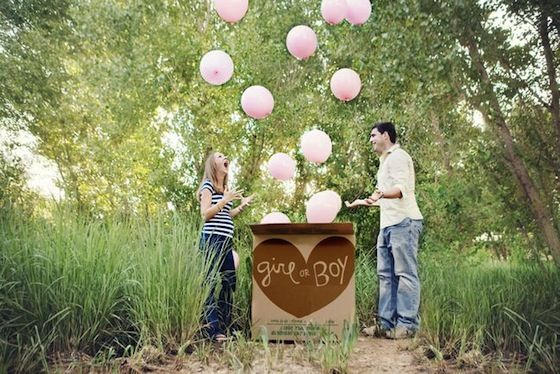 {Gender Reveal Ideas} We love the idea of capturing a balloon release on photograph! #genderreveal