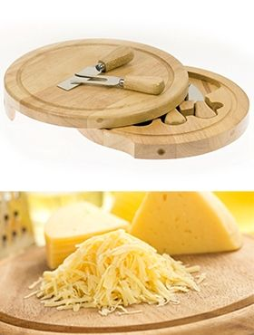 Wooden Cheese Kit Set featuring four stainless steel utensils with wooden handles for AED 79 Only!!