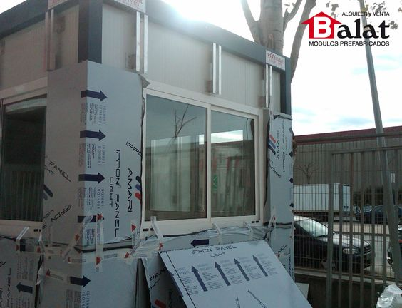 Caseta de vigilancia caseta prefabricada barcelona - Balat modulos prefabricados ...