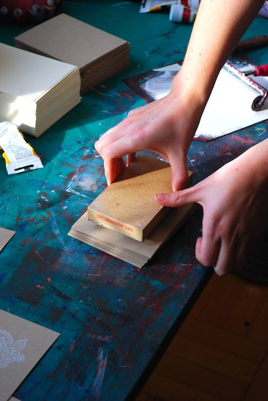 The Printing Process: Block Printing