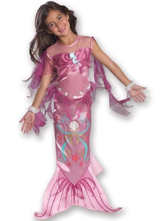 Child Age 5-7 Years Pink Little Mermaid New Fancy Dress Costume ...