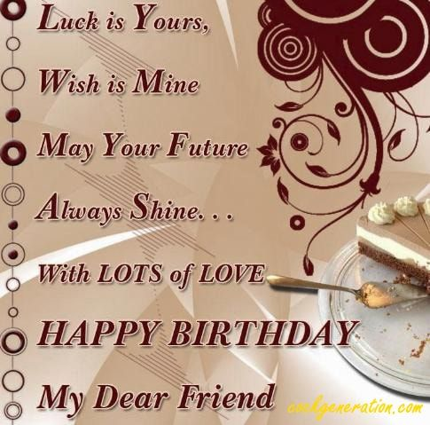 Birthday Wishes For Friend Status Happy Birthday Quotes For