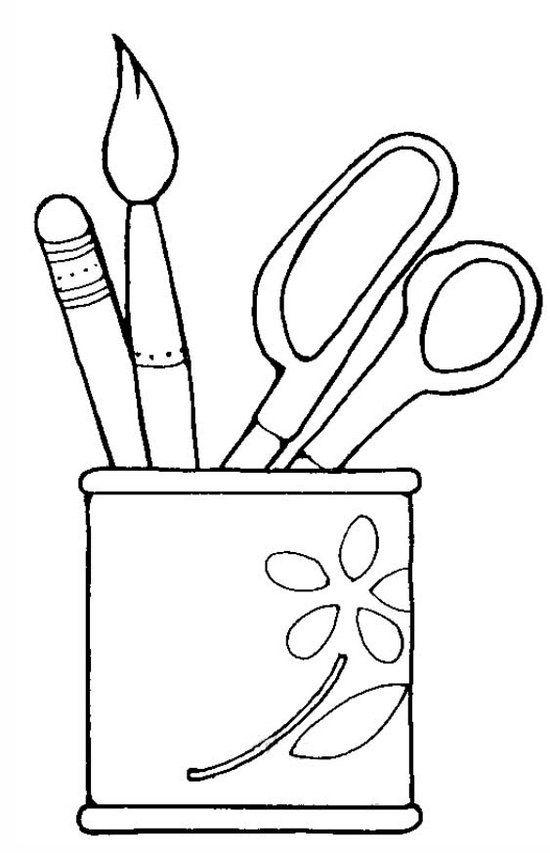 Artistic Desk Pen Holder Coloring Page Coloring Pages Coloring Books Coloring Book Pages