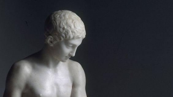 M.I.Kozlowsky, Narziss / Marmorskulptur - M.I.Kozlovsky / Narcissus / Sculpture - M. I. Kozlovsky / Narcisse  / Sculpture