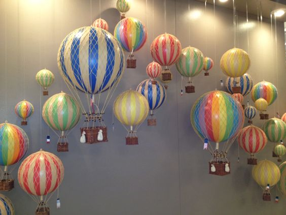 Rooms: Hot Air Balloon Mobiles, These Are Amazing! #hpmkt
