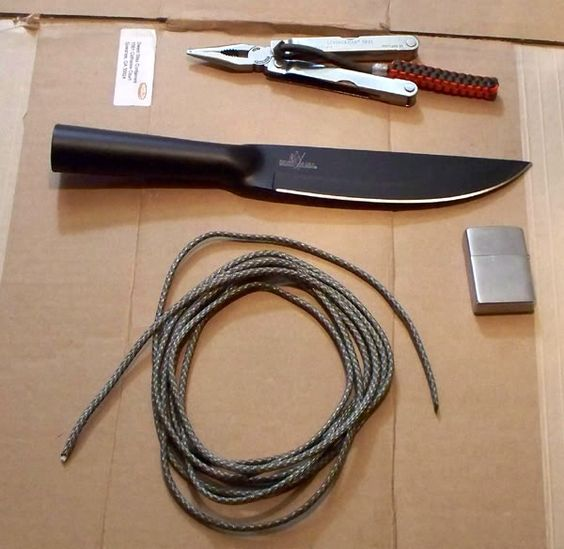 Handle wrap great guide for learning to use parachute cord as a knife