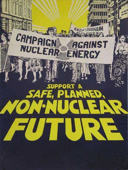 Non-nuclear future; 1978-83; 35x46cm; CANE, Campaign against nuclear energy