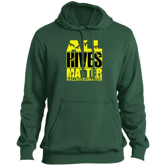 Beekeeper, Beekeeping Shirt All Hives Matter Tall Pullover Hoodie