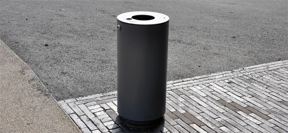 Abfallbehälter Serie 720 Langenbergpark, Bocholt, Stadtmobiliar, public design, Abfallbehälter, Ascher, Waste receptacles & ashtrays