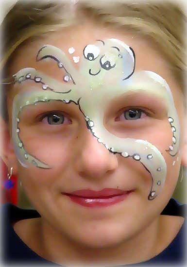 octopus face paint ... schmink octopus -Gerepind door www.gezinspiratie.nl #schminkspiratie #schmink #kids: