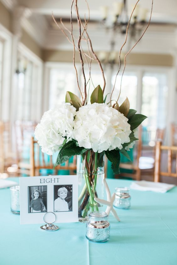 White hydrangea centerpieces diy table and easy on