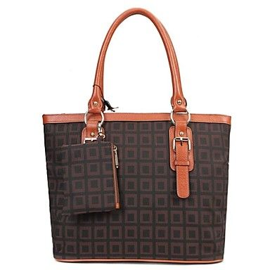 PASTE® motif géométrique sac fourre-tout en cuir véritable des femmes les plus populaires (plus de couleurs) – EUR € 22.72