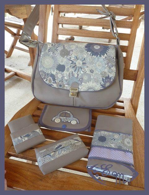 Sac main et ses accessoires lien vers le tuto dans l 39 article couture sacs pinterest - Couture sac a main ...