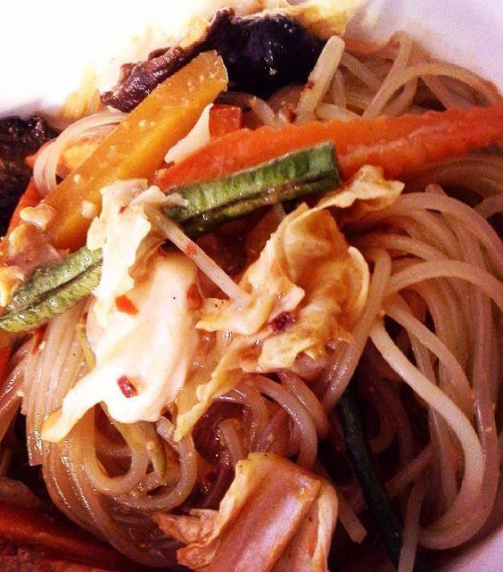 Vegan lunch - Asian Sweet Potato Noodle Soup - Miso broth with mixed veggies shiitake mushrooms and sweet potato noodles - Asian flavors in a bowl of pure yummy goodness  #vegan #veganeats #vegancook #veganfoodporn #veganfood #foodtube #foodblogger #foodporn #veganism #veganlifestyle #food #foodismedicine #homecooking #cooking #plantbased #organicfood #vegetarian #lifestyle #vegans #veggies #crueltyfree #foodblog #weightloss #rawfood #rawvegan #fruits #vegetables #recipeoftheday #recipe…