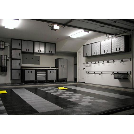 MotorDeck 12 in. x 12 in. Diamond Graphite Modular Tile Garage Flooring (24-Pack)-G90024GRPH - The Home Depot