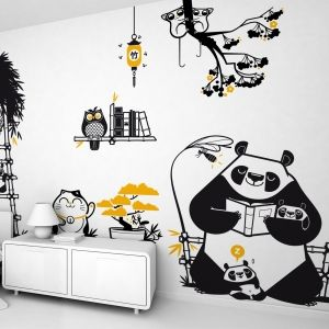 Panda Kids Wall Decals In 2020 Kids Wall Decals Wall Decals