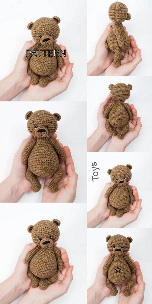 Free Amigurumi Bear Toy Softies Crochet Patterns | 1024x512