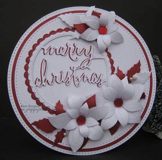 Merry Christmas Circle Frame. poppystamp dies.