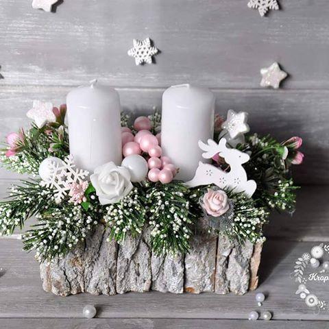 Stroik Swiateczny 2 Dekoracja Swieta Dekor Christmasdecor Xmasdecoration Handmade Ozdoba Bozenarodzenie Choinka Rekodzielo Christmas Handmade Instagram