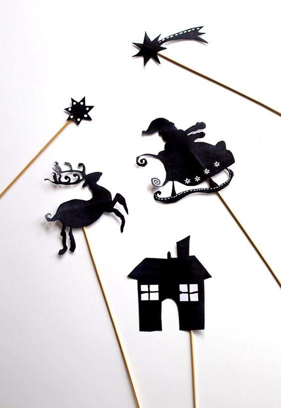 Mon petit théâtre des ombres de Noël (Free printable)   Eloely