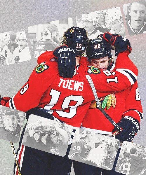 My boys Jonathan Toews and Patrick Kane of the Chicago Blackhawks. Go Hawks Go! #19 #88