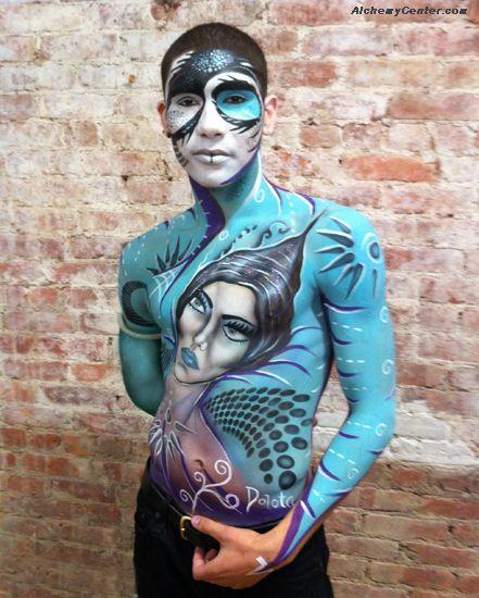 Body Painting by Dorota Buczel at #IMATS New York 2011