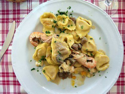 Another one of Emilia Romagna's most common dishes is Cappellacci, a name that translates to hats, which refers to the shape of the noodles. Cappellacci can be filled with anything from ricotta and spinach to butternut squash. Provided by Business Insider