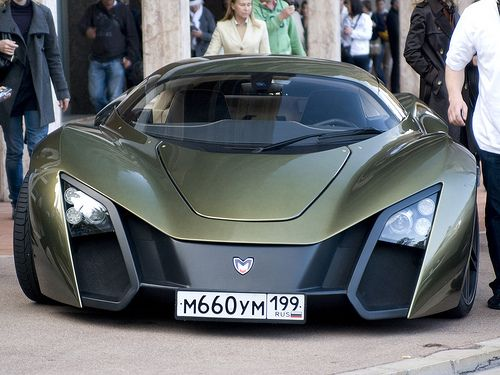 Marussia B2 Russia S Own Super Car Beautiful Olive Color