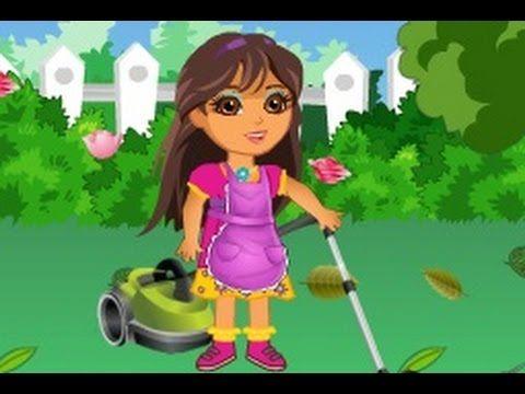 دورا الكبيرة تنظيف حديقة دورا العاب كرتون للاطفال 2015 Mario Characters Cartoon Princess Peach