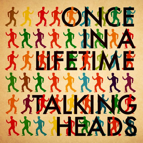 Talking Heads – Once in a Lifetime (single cover art)