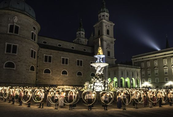 Noite das velas em Salzburgo
