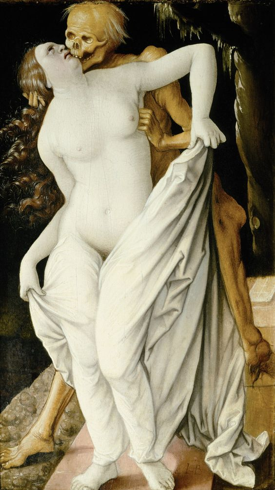 Death and the Maiden, Hans Baldung Grien, 1518-20 | holy shit, this is officially the creepiest thing I have ever pinned.