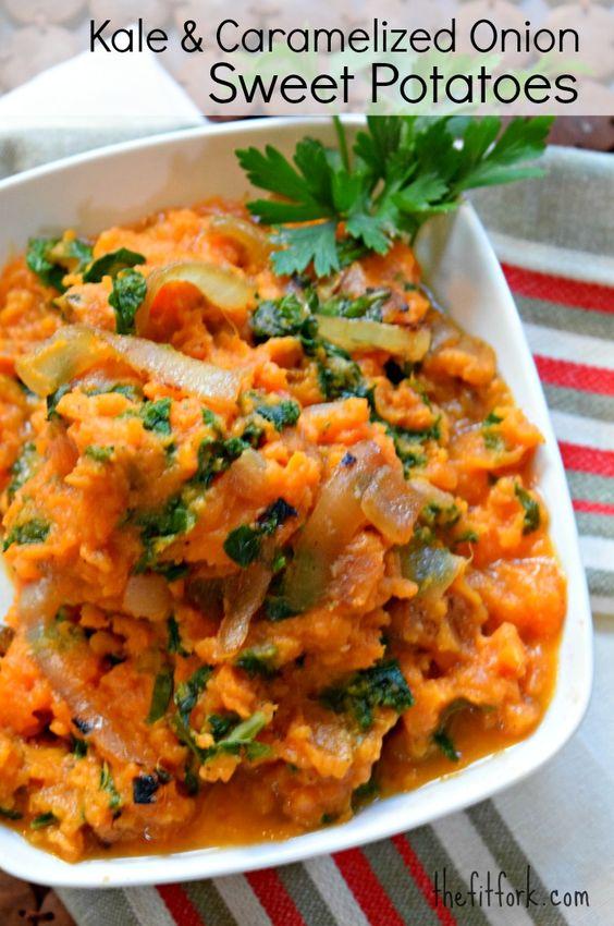 Kale and Caramelized Onion Sweet Potatoes + Favorite Fall Recipes ...