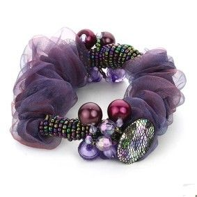 2pcs/lot Free Shipping Fashion Crystal Woman Girls Hair Scrunchies, Ponytail Hair Band. SO Beautiful ! $8.16
