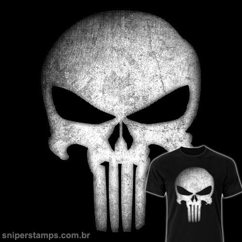Estampa Justiceiro - http://bit.ly/18CiEqg - Camiseta t-shirt, regata e baby look.