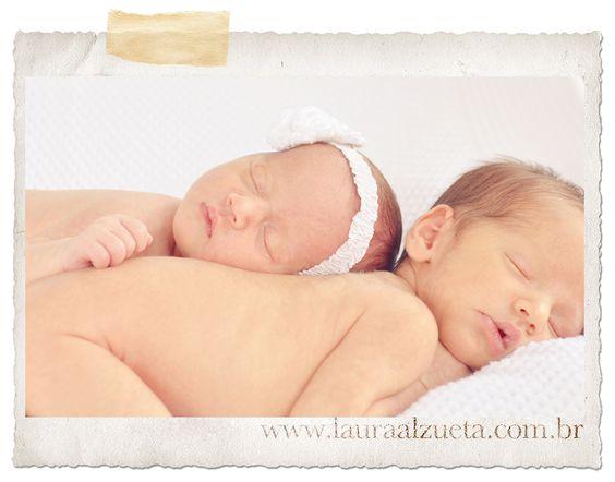Mais fotos de bebês recém-nascidos gêmeos!!
