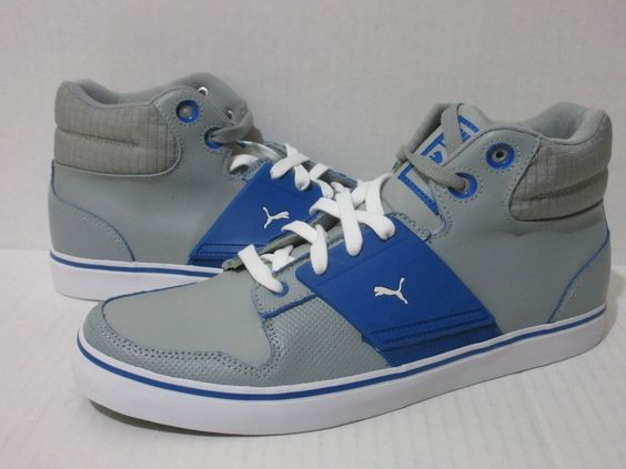 Puma El Ace 2 Mid XX Men's Casual Sneakers 354964 03 Limestone/Royal/White  #PUMA #Athletic