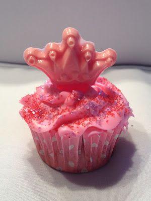 Pink princess cupcakes!
