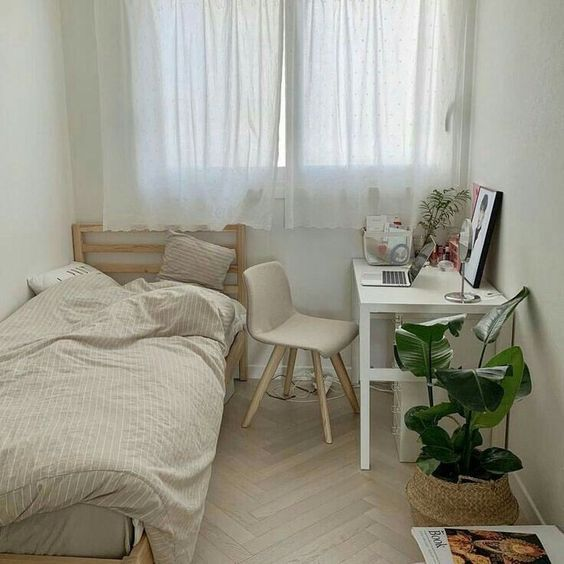 Korean Style Bedroom How To Nail The Cosy Minimalist Interior Design Girlstyle Singapore Beige Room Room Inspiration Bedroom Simple Bedroom Korean style minimalist aesthetic room
