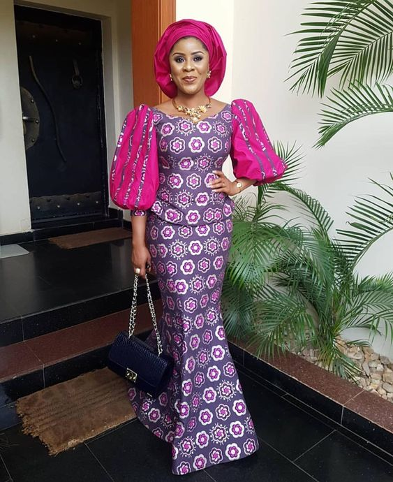 trending ankara skirt and blouse with fancy hand