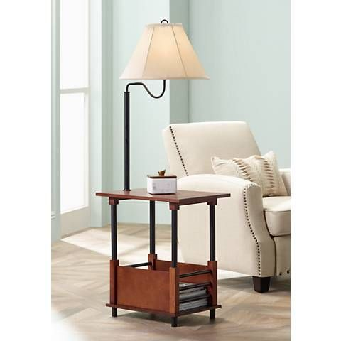 Marville Mission Style Floor Lamp With End Table 2t841 Lamps
