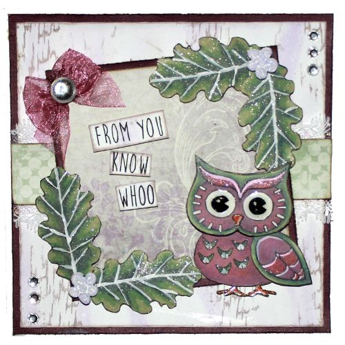 This is the gorgeous new 'Ornate Owls' set designed by Sharon Bennett for Hobby Art. Card made by Sally Dodger: