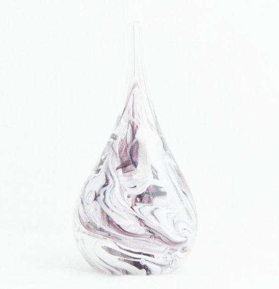 Purple and white swirl handmade glass ring holder. Individually handmade on the Isle of Wight.