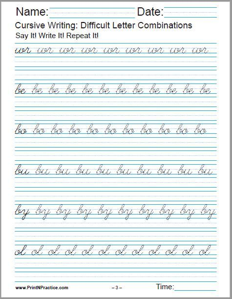 50+ Cursive Writing Worksheets ⭐ Alphabet, Sentences ...