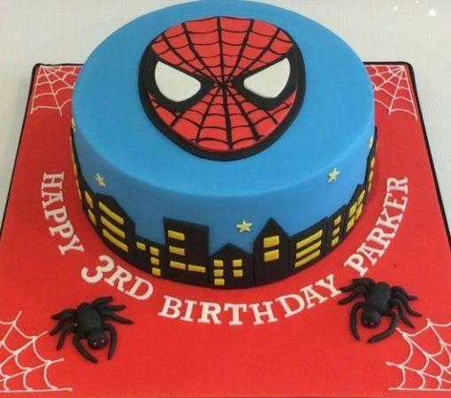 Superb Spiderman Cake Online With Images Superhero Birthday Cake Personalised Birthday Cards Vishlily Jamesorg
