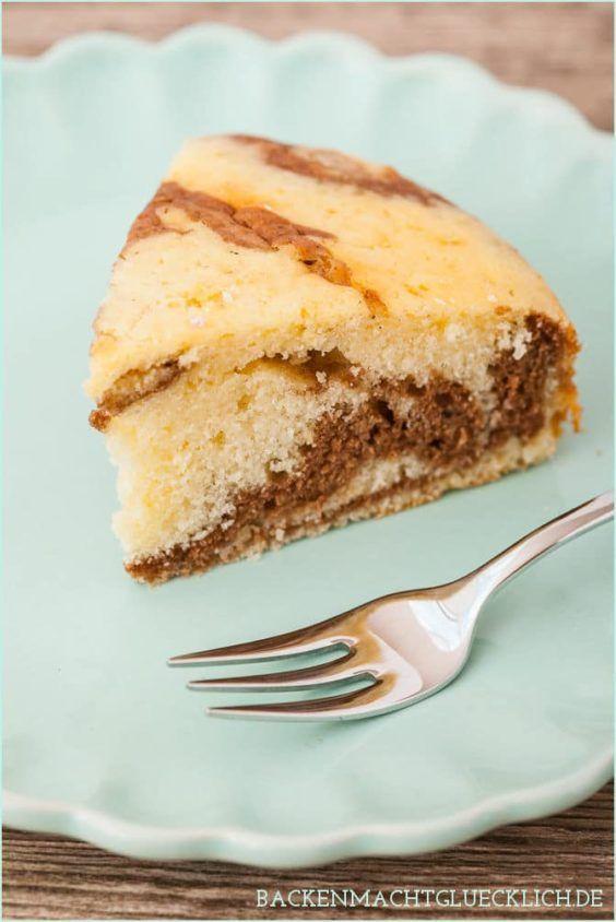 Luftiger Zebrakuchen Mit Sahne Rezept Kuchen Und Torten Rezepte Backen Ohne Butter Und Backen Macht Glucklich