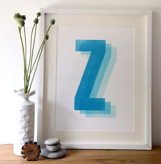 """Zzz"" Print, Wandbild, limitierter Druck von Small Caps auf DaWanda.com"
